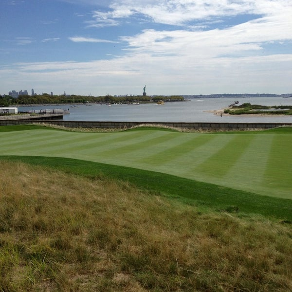 Photo taken at Liberty National Golf Course by Ken D. on 8/23/2013