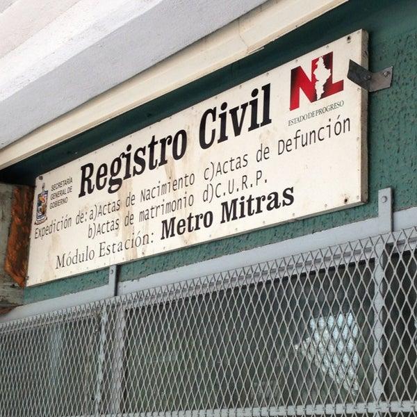 Módulo Del Registro Civil Estación Del Metro Mitras - Monterrey ...
