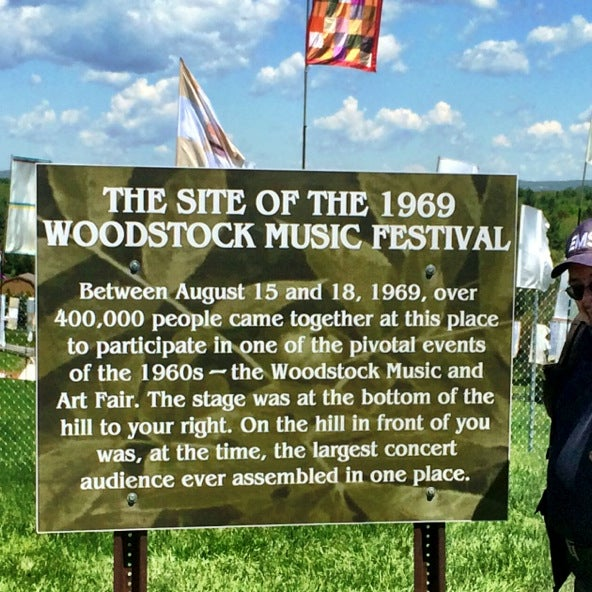 Photo taken at Woodstock Festival Concert Site/Monument by Dave K. on 5/25/2014