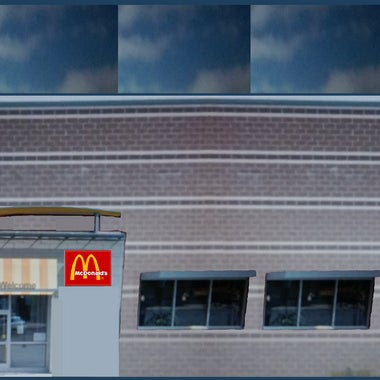 This Is The Left Side And Entrance Of New Building For McDonalds In