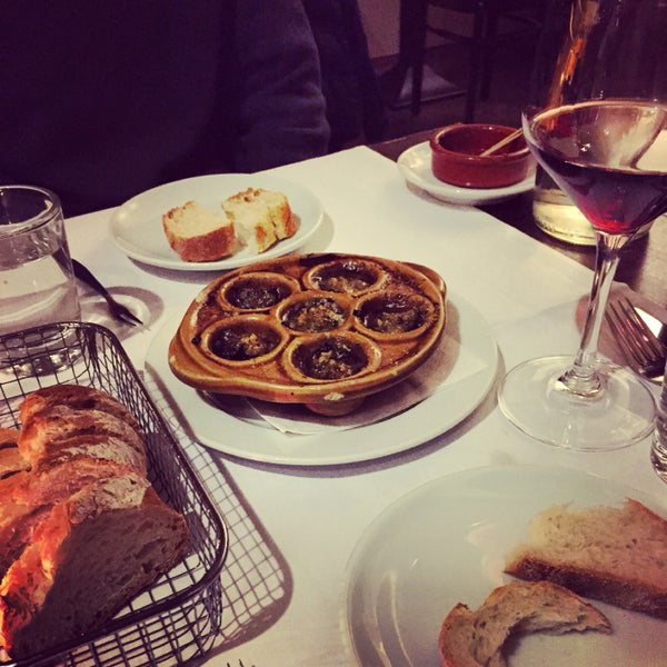 Escargot, moules frites, kir royale! All the French foods you are craving.