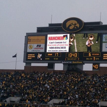 Photo taken at Kinnick Stadium by Abby N. on 11/5/2011