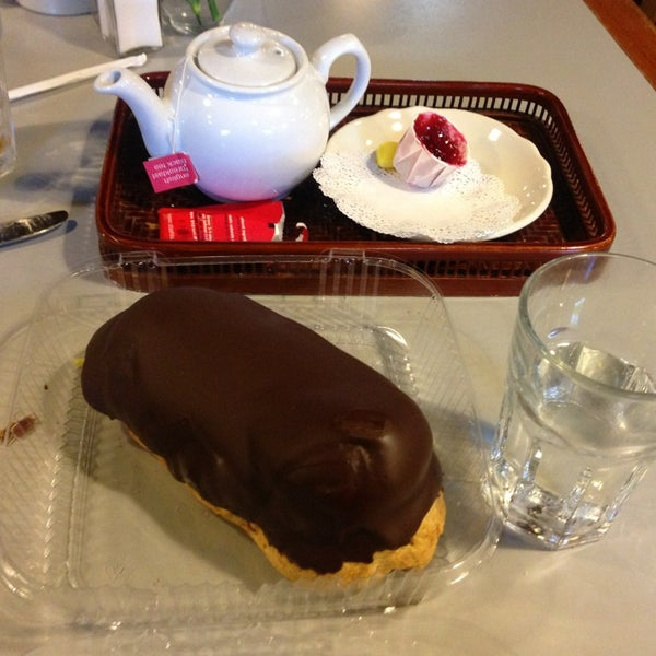 Giant homemade chocolate eclairs after 12:30 on Thursdays! Get one to go!