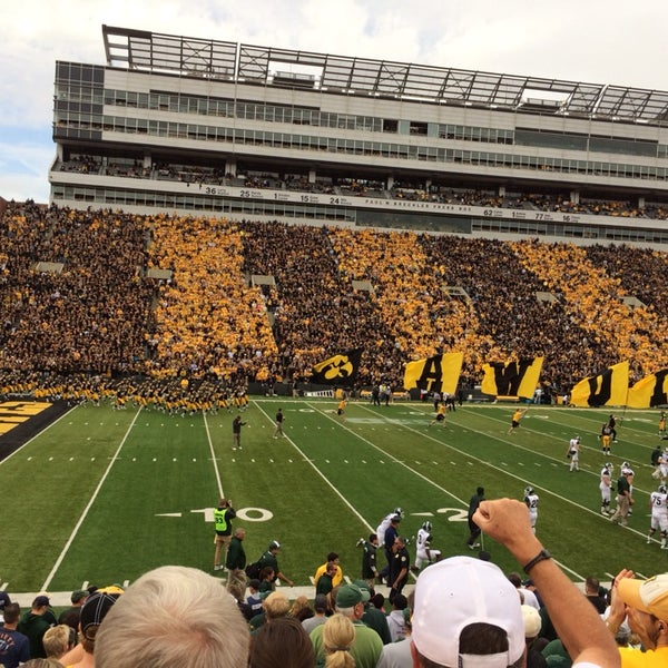 Photo taken at Kinnick Stadium by Brittany on 10/5/2013