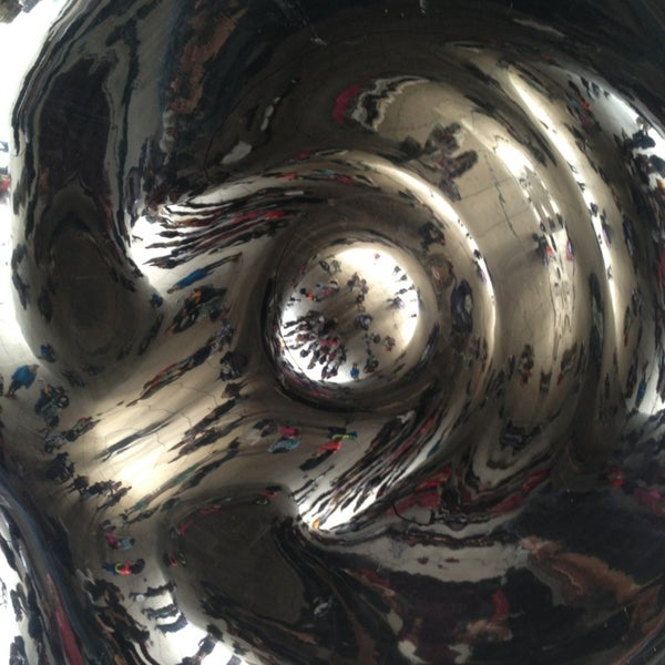 Photo taken at Cloud Gate by Anish Kapoor by Joe K. on 3/30/2013