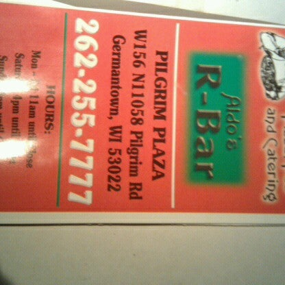 Photo taken at Aldos R-Bar. by Bob on 11/20/2012