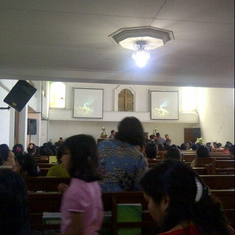 Photo taken at GBKP Bandung Pusat by Maranatha S. on 6/9/2013
