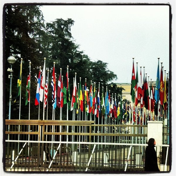 Photo taken at Palais des Nations by Tatiane G. on 3/25/2013