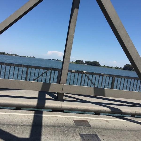 Photo taken at Rio Vista Bridge by Kitlyn X. on 7/30/2017