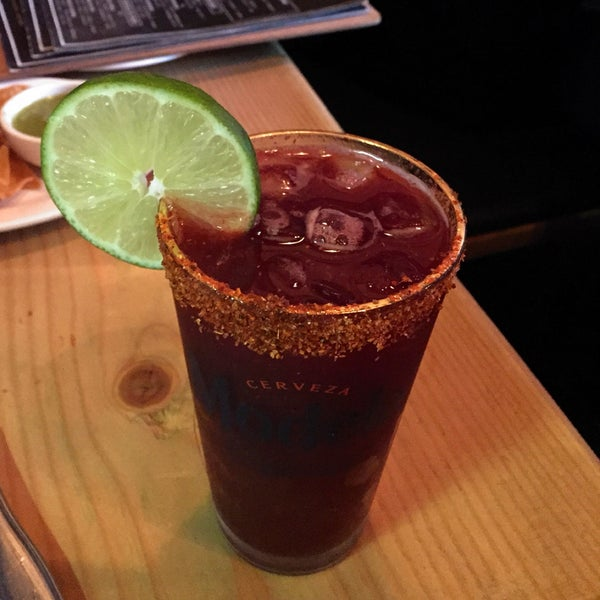 Like your drink sweet and spicy? Then the Blackberry Michelada is definitely for you! Negra Modelo + blackberries + grapefruit juice + tajin + salt!