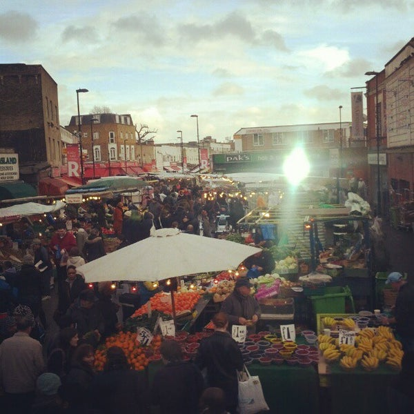 Photo taken at Ridley Road Market by Francesco P. on 12/15/2012