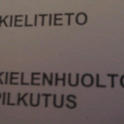 Photo taken at Kauppakorkeakoulu by Annu on 10/20/2012