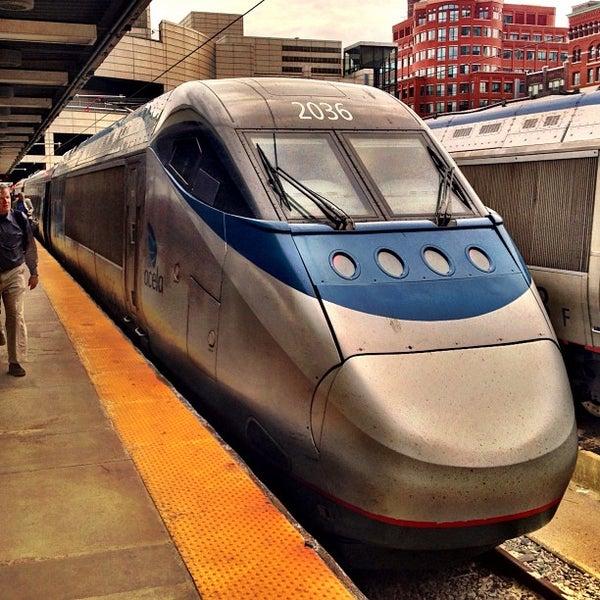 Photo taken at South Station Terminal (MBTA / Amtrak) by Leo P. on 4/18/2013