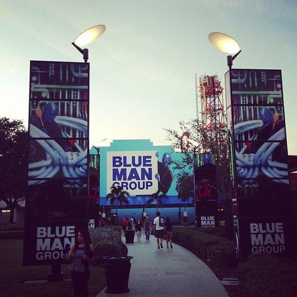 Photo taken at Blue Man Group at Universal CityWalk by Kirsten G. on 12/17/2012