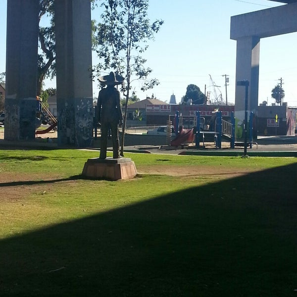 Photo taken at Chicano Park by Oly L. on 9/28/2013