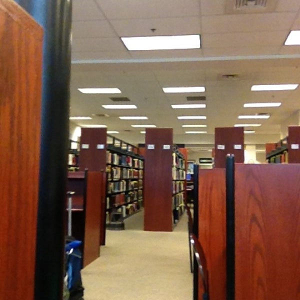 The Housatonic Library is lined with bookshelves