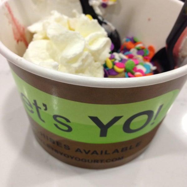 """Photo taken at Let's YO! Yogurt by """"MissyLen"""" on 5/11/2013"""