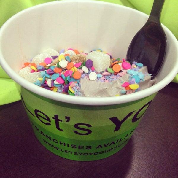 """Photo taken at Let's YO! Yogurt by """"MissyLen"""" on 3/22/2014"""