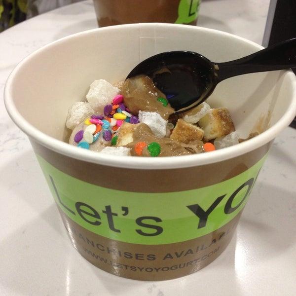 """Photo taken at Let's YO! Yogurt by """"MissyLen"""" on 8/24/2013"""