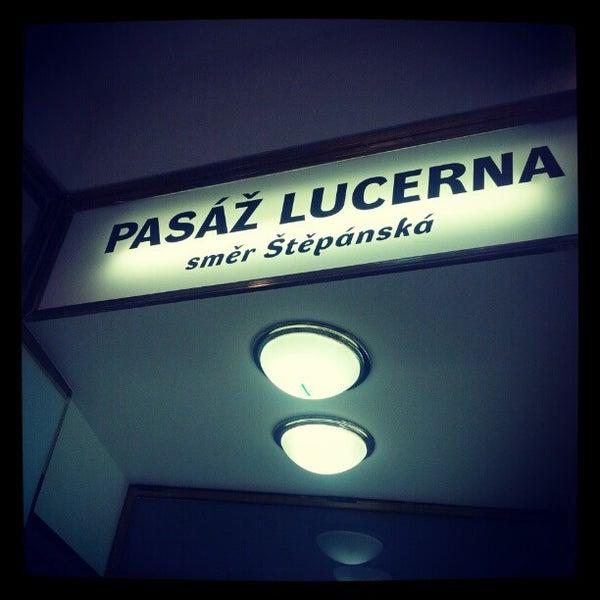 Photo taken at Palác Lucerna by Daniel D. on 10/18/2012