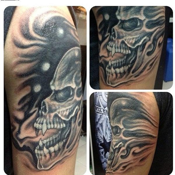 Photo taken at Tattoo O'd studio by Boho M. on 4/28/2013