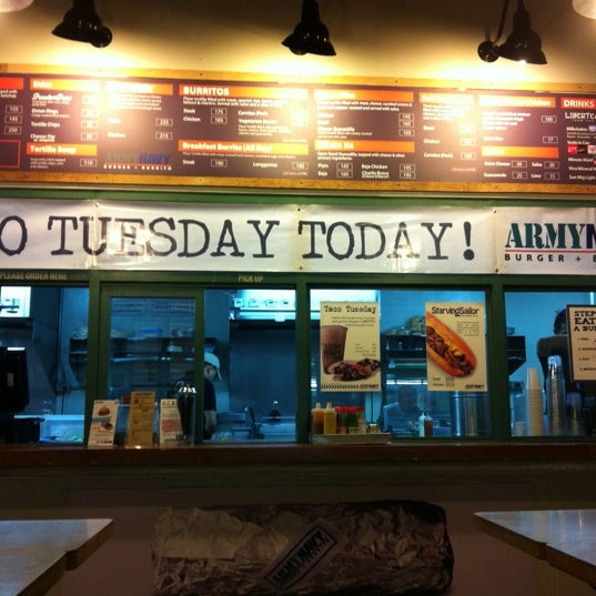 Photo taken at Army Navy Burger + Burrito by Trissie C. on 10/9/2012