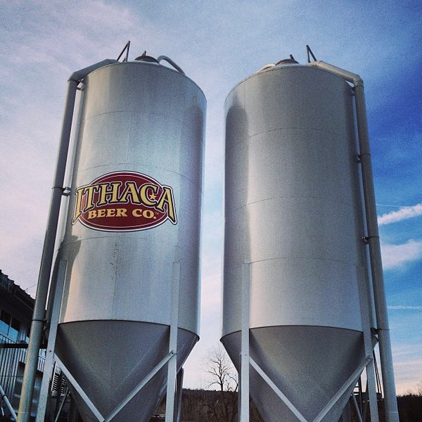 Photo taken at Ithaca Beer Co. Taproom by Adam U. on 1/27/2013