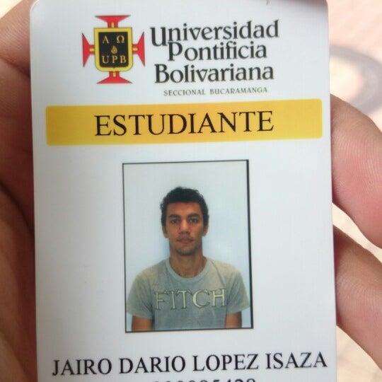 Photo taken at Universidad Pontificia Bolivariana - Seccional Bucaramanga by Jairo D. on 7/10/2014