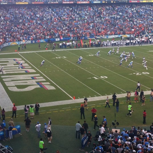 Photo taken at Qualcomm Stadium by Pepe A. on 10/16/2012