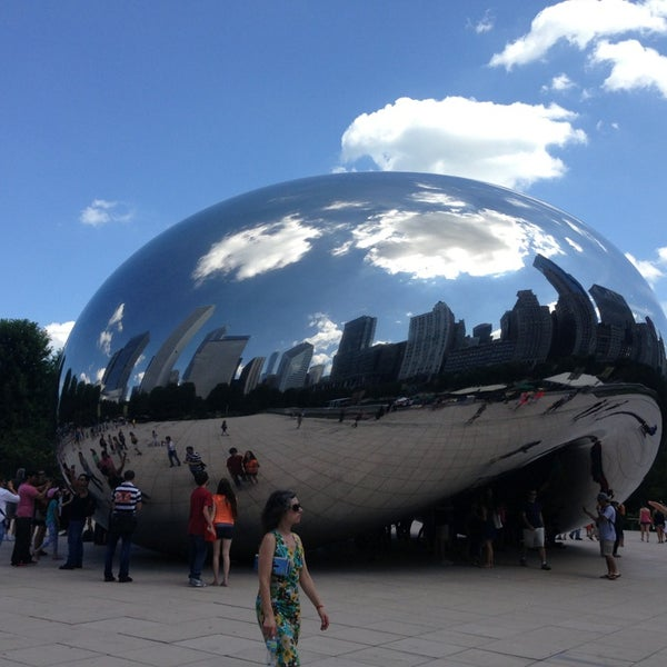 Photo taken at Cloud Gate by Anish Kapoor by Flavio G. on 6/27/2013