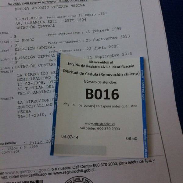Fotos en Registro Civil e Identificación - Maipú - Mall Arauco Express
