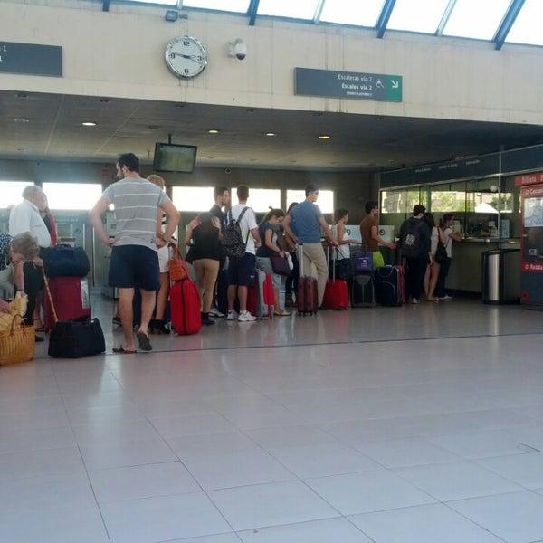 Photo taken at Estació de Tren - València-Cabanyal by Antoni A. on 10/18/2013