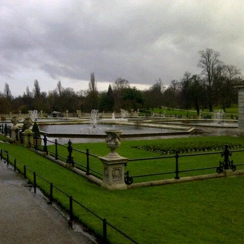 Photo taken at Kensington Gardens by Nuruli K. on 1/27/2013
