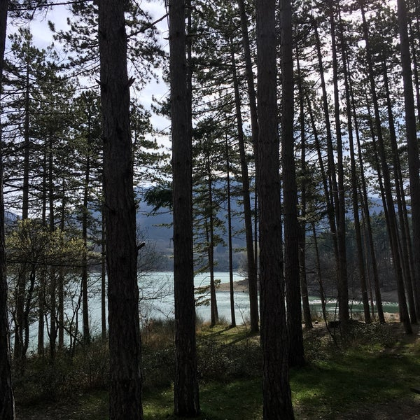 Photo taken at Lago di Suviana by Melanie H. on 3/18/2017