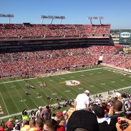 Photo taken at Raymond James Stadium by Staci D. on 10/21/2012
