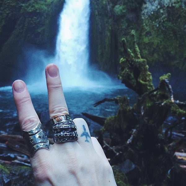Photo taken at Wahclella Falls Trail by Seattle D. on 3/19/2014