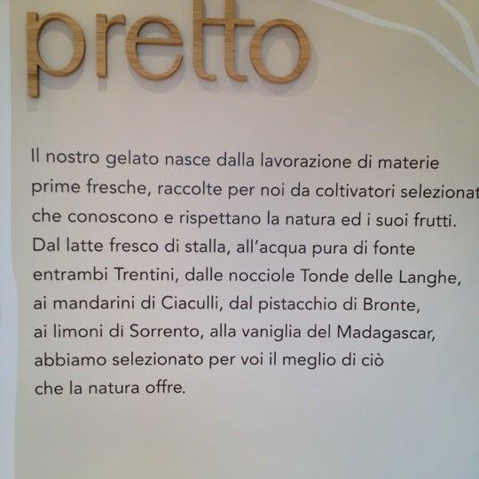 Foto scattata a Pretto Gelato Arte Italiana da Giulio C. il 11/24/2012