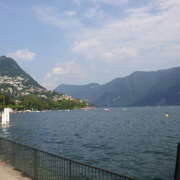 Photo taken at Lago di Lugano by Paula Renata F. on 6/18/2013