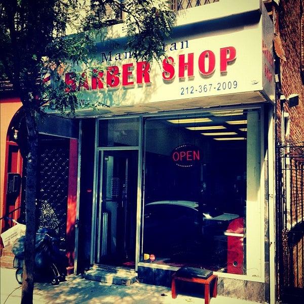 Photo taken at Manhattan Barber Shop by Gabriel L. on 9/19/2012