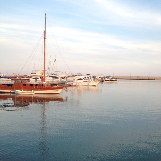 Photo taken at Mersin Marina by Gozde U. on 10/28/2012