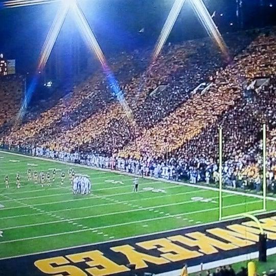 Photo taken at Kinnick Stadium by Kraig S. on 10/21/2012