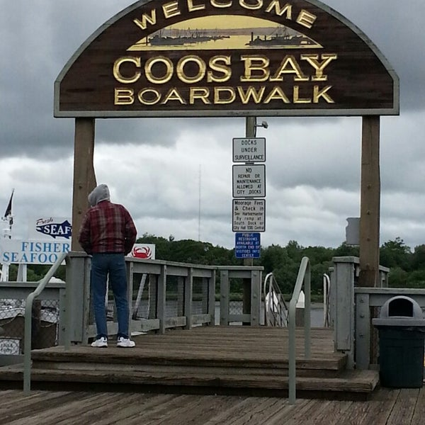 Photo taken at Coos Bay Boardwalk by Rodney H. on 5/28/2013