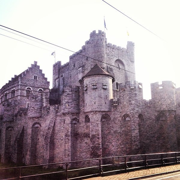 Photo taken at Castle of the Counts by Stefan V. on 6/7/2013