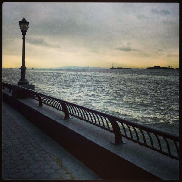 Photo taken at Battery Park City Esplanade by Koen B. on 1/4/2013