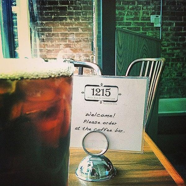 Photo taken at 1215 Wine Bar & Coffee Lab by Matt H. on 7/16/2013
