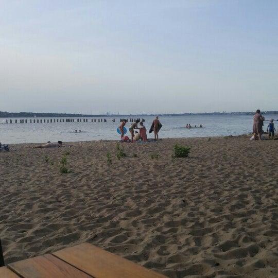 Photo taken at Пляж в Октябрьском by Денис С. on 6/17/2016
