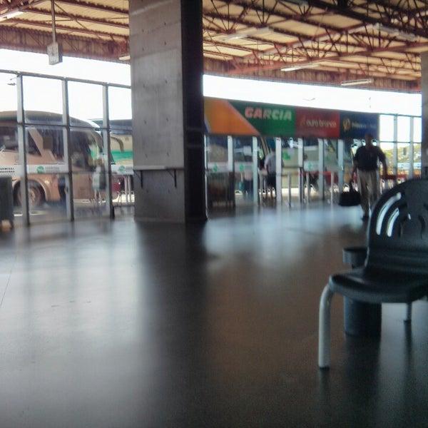 Photo taken at Terminal Rodoviário José Garcia Villar by Vinícius P. on 4/28/2013