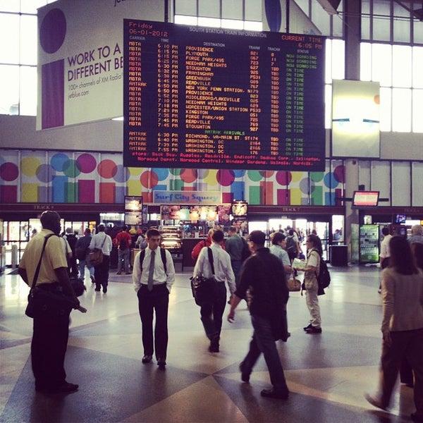 Photo taken at South Station Terminal (MBTA / Amtrak) by Jim on 6/1/2012