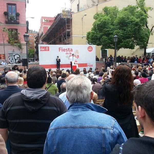 Photo taken at Plaza del Dos de Mayo by Daniel B. on 5/8/2013