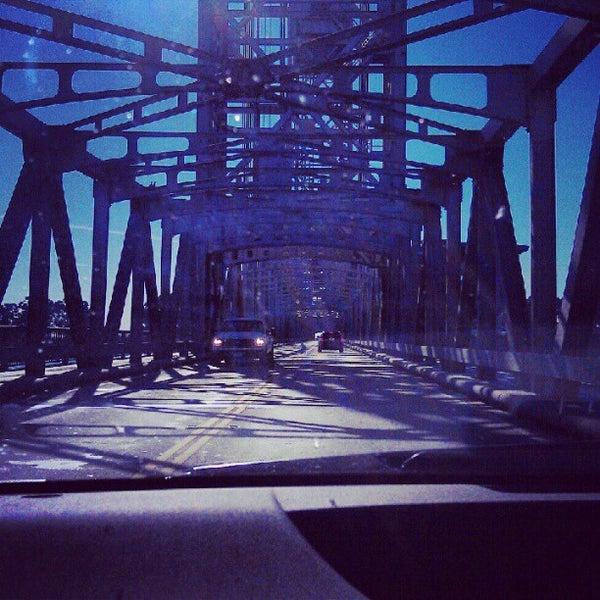 Photo taken at Rio Vista Bridge by Tom C. on 9/16/2012
